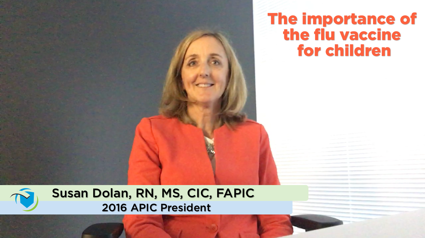 APIC 2016 President Susan Dolan, RN, MS, CIC, FAPIC, discusses the importance of getting a flu shot every year.